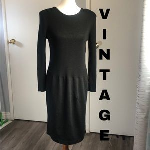 Vintage 90's ribbed sweater dress